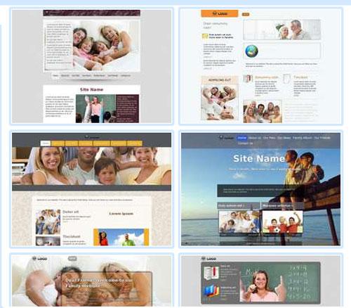 Modelos de sites para Website pessoal ou da família