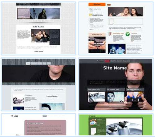 Modelos de sites para Website para fãs de videogames