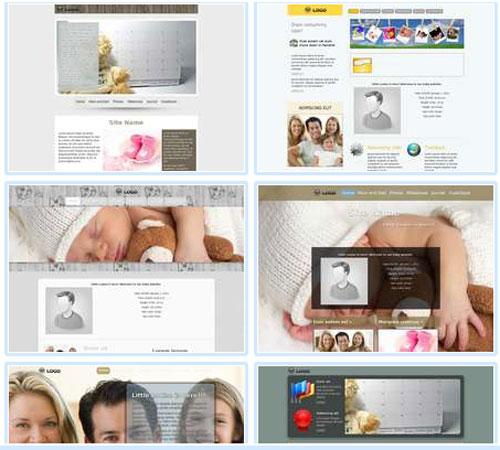 Modelos de sites para Anúncio de nascimento