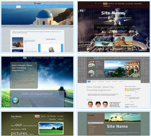 Modelos de sites para Blog de viagens