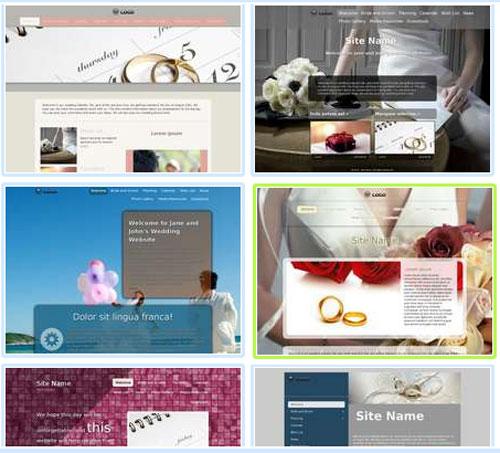 Modelos de sites para Noivado e Casamento